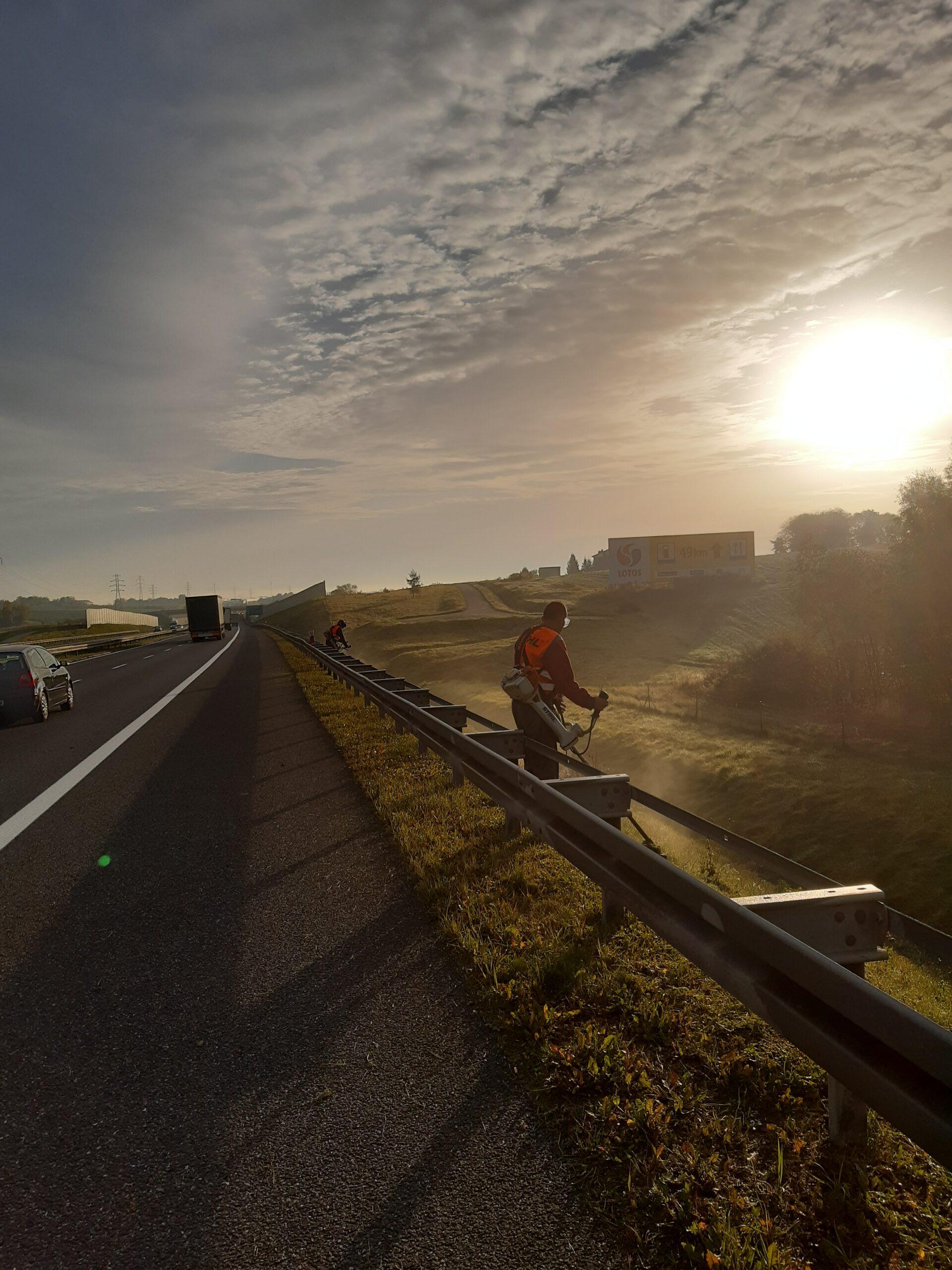 Koszenie autostrady A4